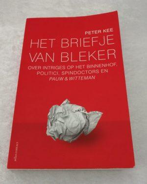Het briefje van Bleker. Peter Kee